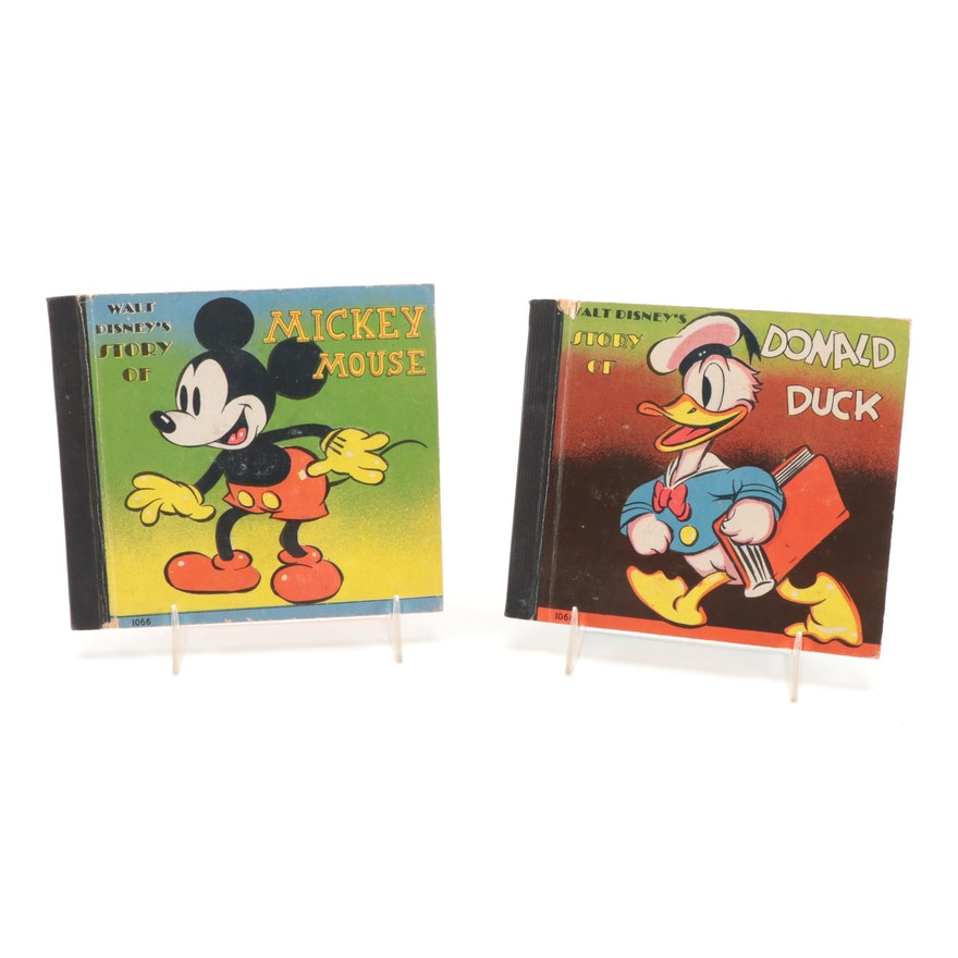 """""""Walt Disney's Story of Mickey Mouse"""" and """"Donald Duck"""" Books, circa 1938"""