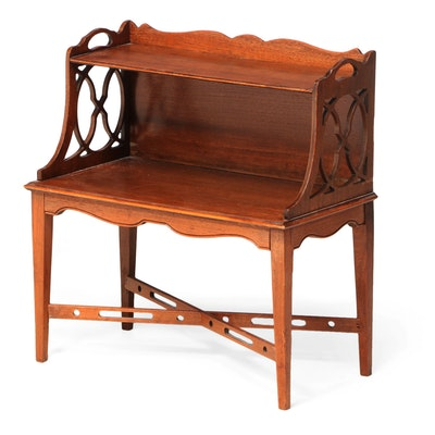 Federal Style Mahogany Two-Tier Side Table, Early to Mid 20th Century