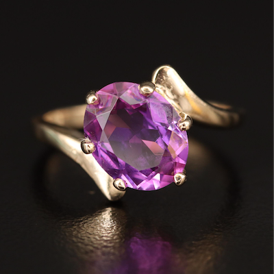 14K Color Change Sapphire Bypass Ring