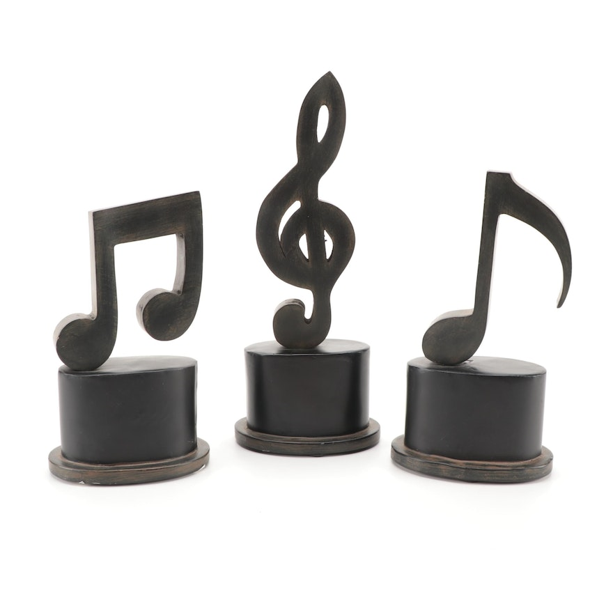 Uttermost Cast Musical Note Figurines