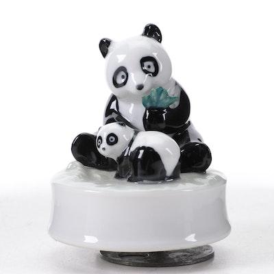 Otagiri of Japan Panda and Cub Form Musical Figurine