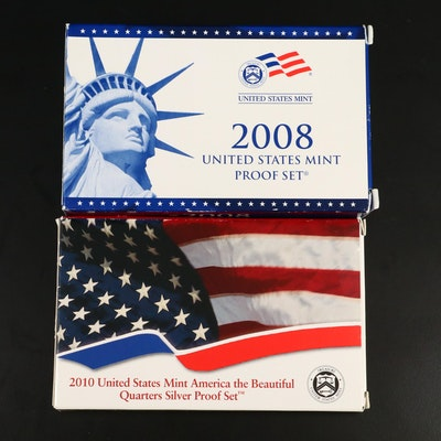 Two U.S. Mint Proof Sets Including Silver