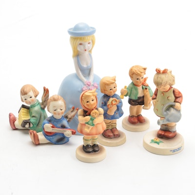 """Goebel """"Little Gardener"""", """"Boy with Horse"""" and Other Hummel Figurines and Bell"""