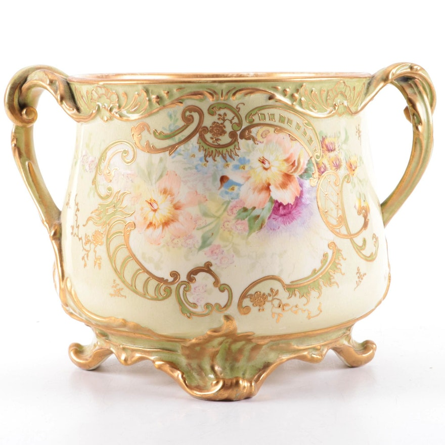 Royal Bonn of Germany Gilt Decorated Porcelain Centerpiece, 1890–1920