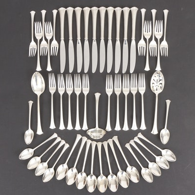 """Gorham """"Newport Scroll"""" Sterling Silver Flatware and Serving Pieces"""