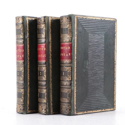 """Illustrated """"The Tour of Doctor Syntax"""" Vol. I–III by William Combe, 1823–1828"""