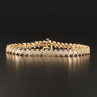 10K 4.40 CTW Diamond S-Link Bracelet