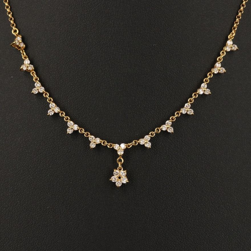 18K Diamond Sautoir