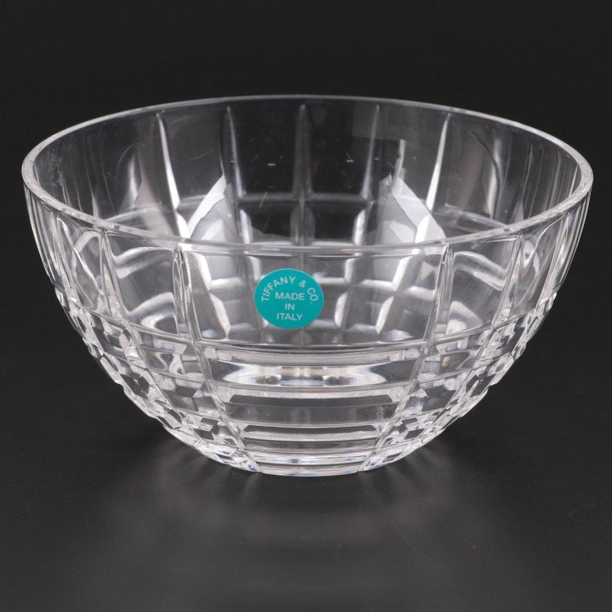 """Tiffany & Co. """"Plaid"""" Crystal Bowl"""