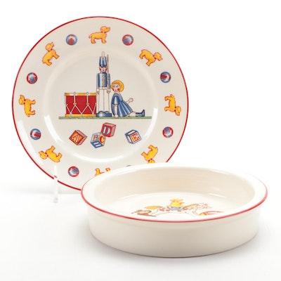 "Mason's of England for Tiffany & Co. ""Tiffany Toys"" Ironstone Bowl and Plate"