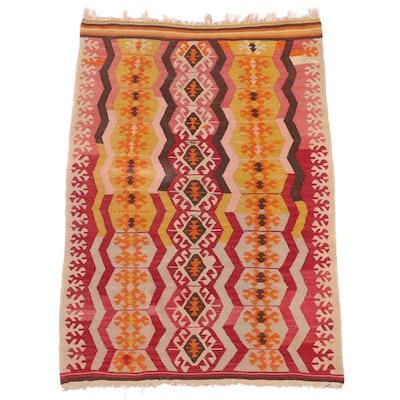3' x 4'6 Handwoven Turkish Caucasian Kilim Accent Rug