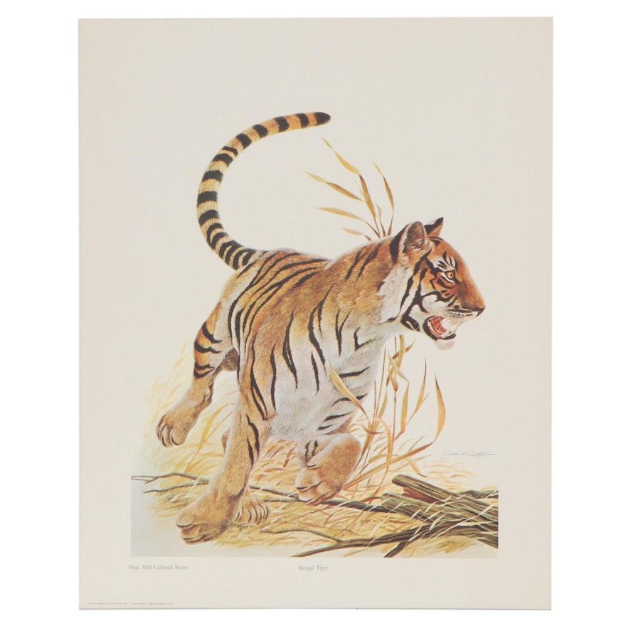 """Offset Lithograph after John A. Ruthven """"Bengal Tiger,"""" 1970"""