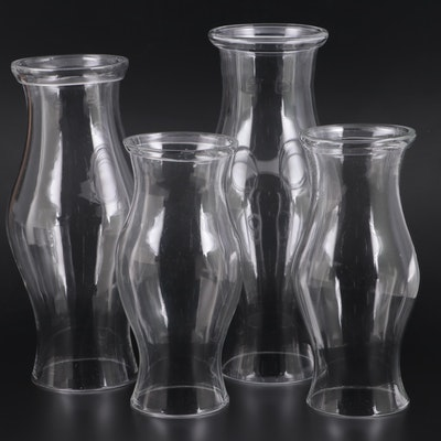Handblown Glass  Hurricane Shades, Mid to Late 20th Century