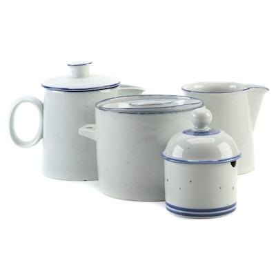 "Dansk ""Blue Mist"" Ceramic Serveware, Late 20th Century"