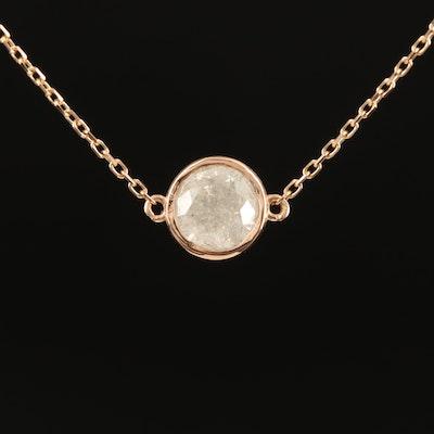 18K 1.07 CT Diamond Necklace