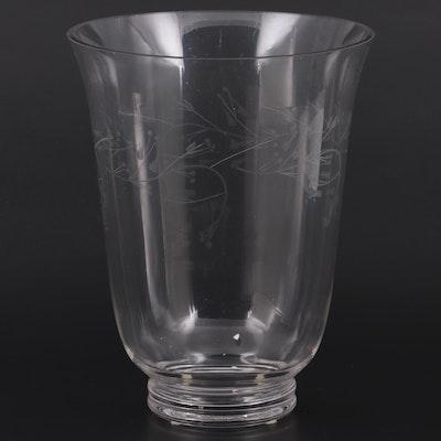 Longaberger Etched Glass Hurricane