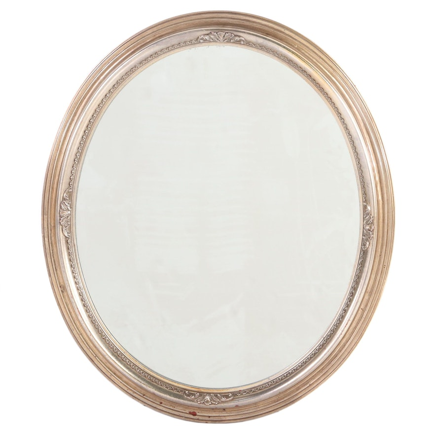 """Gardner Glass Products """"Collective Images"""" Silver Gilt Composite Mirror"""