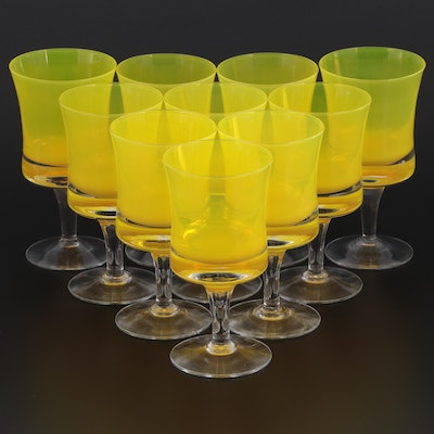 """Denby """"Mirage Yellow"""" Juice or Wine Glasses, 1973–1977"""