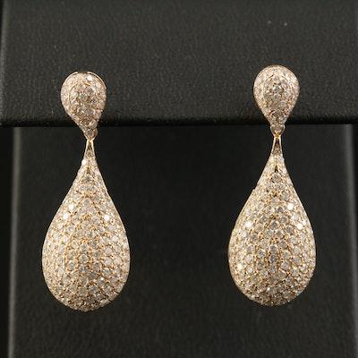 14K 2.29 CTW Diamond Teardrop Earrings