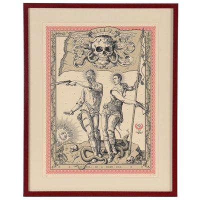 """Ravi Zupa Serigraph """"It Will Be a Hard Day,"""" 21st Century"""