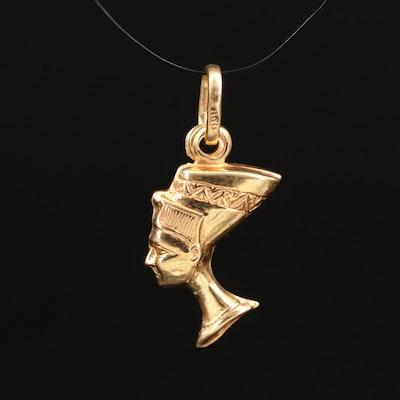18K Nefertiti Pendant