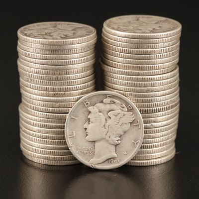 Roll of Mercury Silver Dimes