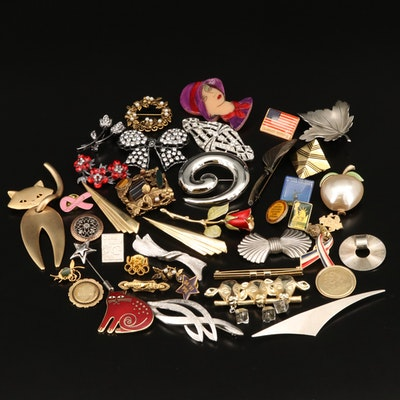 Antique and Vintage Brooches and Pins Featuring Wells, Anson and Giovanni