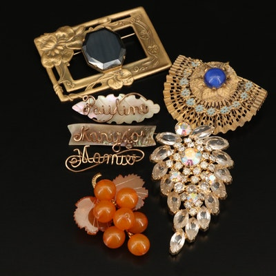 Vintage Brooches Featuring Sadie Green Art Nouveau Style Brooch