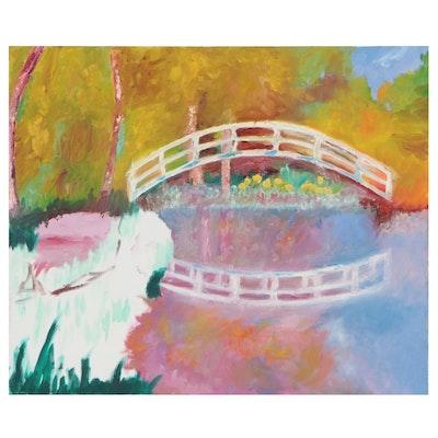 Oil Painting after Claude Monet, 21st century