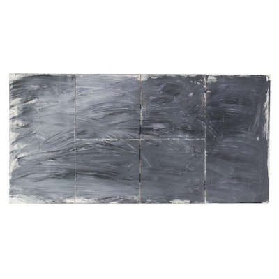 Multipanel Abstract Acrylic Painting