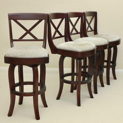 Four Contemporary Upholstered Barstools