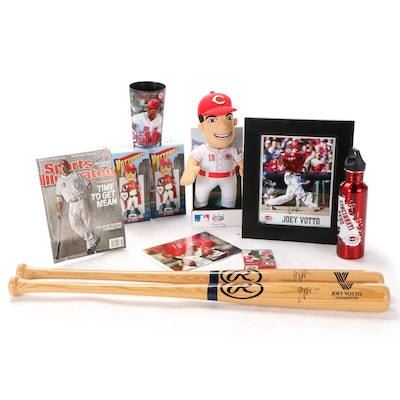 Joey Votto Signed Baseball Bats, Photo Prints, Bobbleheads, Doll, and More