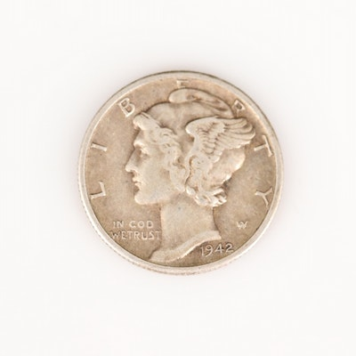 1942-D Mercury Silver Dime