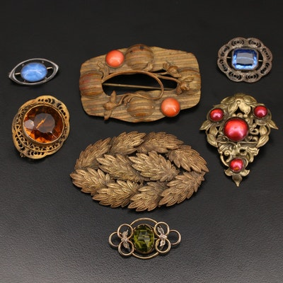 Antique and Vintage Brooches Featuring White and Co.
