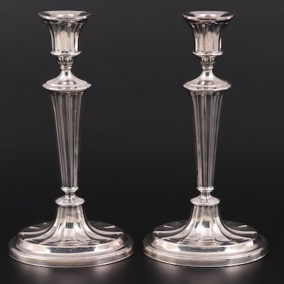 Lawrence B. Smith Co. Silver Plate Candlesticks, Early to Mid-20th Century