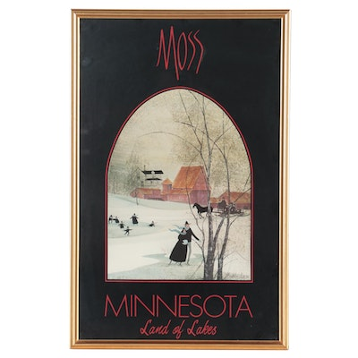 Minnesota Travel Poster Offset Lithograph after Patricia Buckley Moss