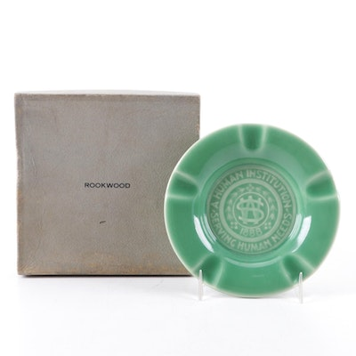 Rookwood Pottery for Western & Southern Life Insurance Green Glaze Ashtray, 1957