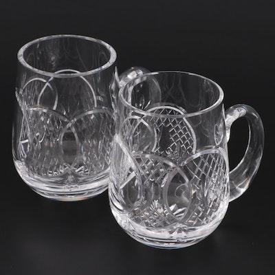Waterford Crystal Tankard Mugs, Late 20th Century