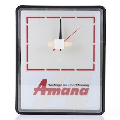 "Dualite ""Amana Heating & Air Conditioning"" Illuminated Wall Clock"