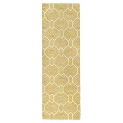"""2'7 x 8' Hand-Tufted Company C """"Labyrinth Willow"""" Carpet Runner, 2000s"""