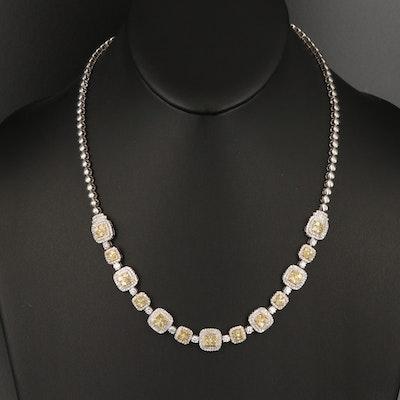 Damas 18K 8.58 CTW Pavé Diamond Necklace
