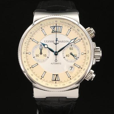 Ulysee Nardin Marine Chronograph Stainless Steel Wristwatch