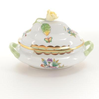"""Herend """"Queen Victoria"""" Porcelain Miniature Tureen"""