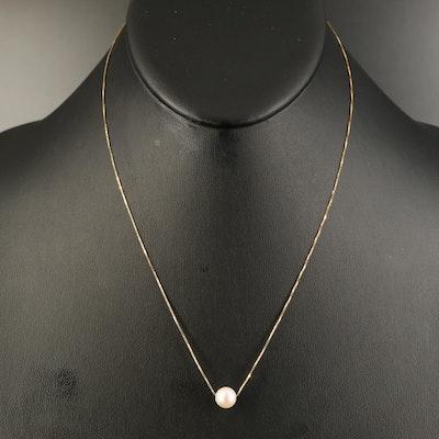 Peter Brams 10K Pearl Pendant Neckalce