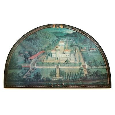 Glicee Print Villa Medici at Cafaggiolo after Giusto Utens on Wood Panel