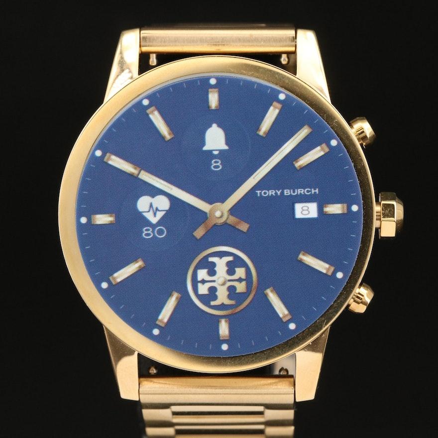 Tory Burch Gigi Tory Track Gold Tone Touchscreen Smart Watch