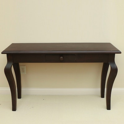 Contemporary Wooden Single-Drawer Hallway Table