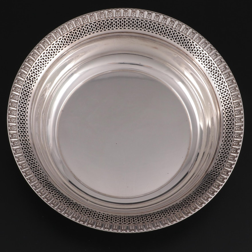 Fisher Pierced Sterling Silver Bowl, Mid to Late 20th Century