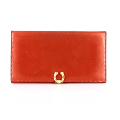 Gucci Horseshoe Red Leather Wallet