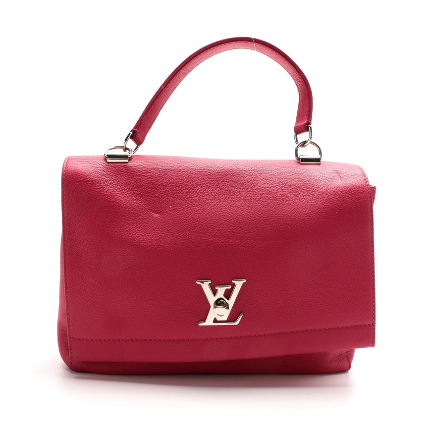 Louis Vuitton Lockme II Handbag in Dahlia Pink Leather